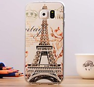 The Eiffel Tower Pattern TPU Soft Case for Samsung Galaxy S6