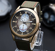 Men Canvas Fabric Japanese Quartz Digital Fashion Watch
