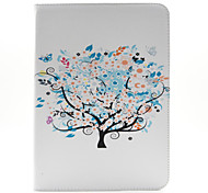 The Beauty of The Tree Pattern PU Leather Case Cover with Stand and Card Holder for Samsung Galaxy Tab 4 10.1 T530