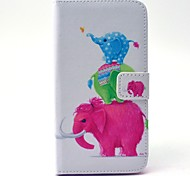 EFORCASE Three Elephant Painted PU Phone Case for Galaxy S6 edge S6 S5 S4 S3 S5 mini S4 mini S3 mini