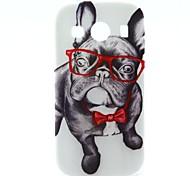 glazen hond patroon TPU zachte hoes voor Samsung Galaxy Ace stijl lte g357 / ace 4 g357fz