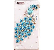 Rhinestone Peacock Pattern PC Hard Back Cover Case for Huawei G6/P6 Mini(Assorted Colors)