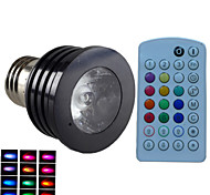 1pcsSchöneColors® E26/B22/E14/GU10 4W 1X 3W LED RGB Dimmable/Music-Controlled/Remote-Controlled/Decorative AC85-265V