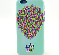 Balloon House Pattern TPU Soft Case for iPhone 5C