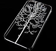 fondello trasparente albero modello foresta per iphone4 / 4s