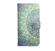 Mandala Pattern PU Leather Cover and Random color Capacitance Pen with Stand for iPhone 6