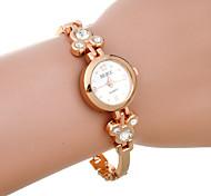 Women's Fashion Leisure Big Diamond Gold Bracelet Quartz Watch
