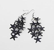 Fashion Beautiful Alloy Many Starfish Drop Earrings