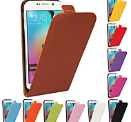 For Samsung Galaxy Case Flip Case Full Body Case Solid Color PU Leather Samsung S6 edge