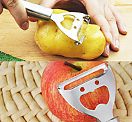 2 in 1 Smile Face Stainless Steel Fruit Peeler Can Bottle Opener 17*5.5*2 cm