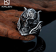 Kalen Men's Jewelry New Style Custom Stainless Steel Skull Rings