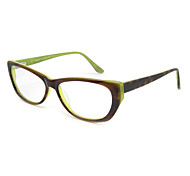 [Free Lenses] Acetate Cat-Eye Full-Rim Retro Prescription Eyeglasses