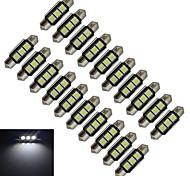 Festoon Lichtdekoration 3 SMD 5050 60-70lm lm Kühles Weiß DC 12 V 20 Stück