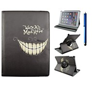 9,7 pouces de 360 degrés motif rotation sourire avec le cas de stand et stylo pour ipad air 2 / ipad 6