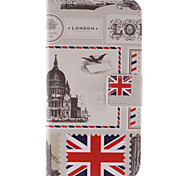 Stamp PU Leather Wallet Full Body Case with Stand and Card Slot for Samsung Galaxy E5 SM-E500F