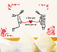 Romantic Hand in Hand Lovers PVC Wall Sticker
