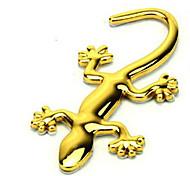 наклейки золотой металл геккон автомобиль (10 * 4,5)