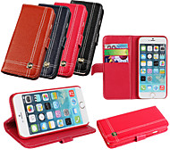 iCoverCase®Lichee Retro Cowhide Leather Flip Cover Wallet Card Slot Case with Stand for iPhone 6 (Assorted Colors)