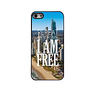 I am Free Design Aluminum Hard Case for iPhone 5/5S