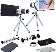 Apexel 12X Telephoto Manual Focus Camera Lens with Tripod and Back Case Cover for Samsung Galaxy S6 G9200