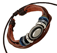 European Style Fashion Handmade Beaded Woven Leather Bracelet