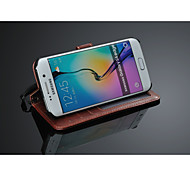 Fashion®   Luxury Wallet Leather Case with Card Holder for Samsung Galaxy S6 edge (Assorted Color)