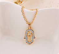 Women  Palm Vintage/Cute/Work/Casual Alloy Pendant Necklace