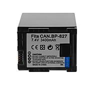 3400mAh bateria da câmera para Canon BP-827 +