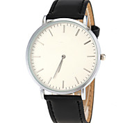 Men's Ultra Slim Case Leather Band Quartz Wrist Watch