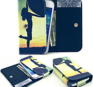 Up Heart Leather Wallet style Full Body Case and Card Slot for Iphone Mobile Size<13.8*7.6*2.1