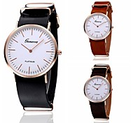 2015 Geneva Watch Casual  Fashion Cow Leather Wrist Watches For Men