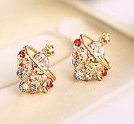 (Not Allergic)Manufacturers Of Direct Selling Lucky Star Woman Gold-Plated Earrings (More Colors)