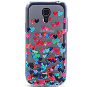 patrón amor TPU suave para mini i9190 Samsung Galaxy S4