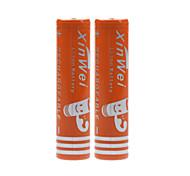 xin wei 6000mah 3.7v 18650 batería de iones de litio recargable (2pcs)
