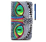 4.5 Inch Owl Pattern PU Wallet Leather Case and Pen for Nokia N630