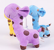 Plush Squeak Fawn Shape Pillow Chew Toy for Little Dogs(Random Color)