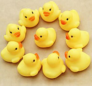 Cute Yellow Duck Swimming