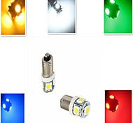 5W BA9S Luces Decorativas 5 SMD 5050 100-300 lm Blanco Fresco / Azul / Amarillo / Verde / Rojo Decorativa DC 12 V 1 pieza