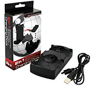 Move 2 Chargers Controller Quad Charger for Sony PS3 Move