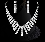 la mode lien lustre diamant les ensembles des femmes: collier et boucles d'oreilles (essai vente; actions: 2)