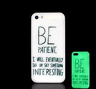 frase patrón resplandor en el caso duro para el iphone 5 oscuro / iphone 5 s