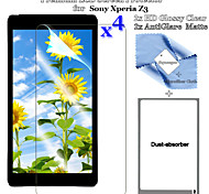 Premium 2PCS HD Clear LCD Guard and 2PCS Anti-Glare Matte LCD Screen Protector Flim for SonyZ3