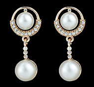 New Coming Double Fake Latest Design Pearl Earrings