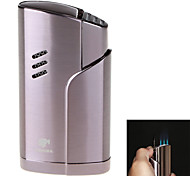 High-Grade Windproof Inflatable Three Flame Lighter & Cigar Punch