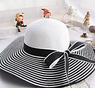 Women Cotton/Straw Straw Hat , Cute Summer