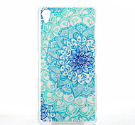 Magic Spider® Blue Flower Protective Frosted Transparent Back Case with Screen Protector for Sony Xperia Z3