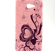 Love Pink Pattern Soft TPU Case for Sony Xperia M2