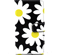 For Nokia Case Wallet / Card Holder / with Stand Case Full Body Case Flower Hard PU Leather NokiaNokia Lumia 830 / Nokia Lumia 640 /