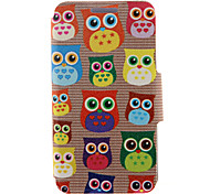 For HTC Case with Stand / with Windows / Flip Case Full Body Case Owl Hard PU Leather HTC