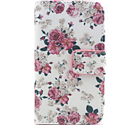 Flowers Pattern PU Leather Full Body Case with Stand and Wallet for Samsung S3 Mini I8190
